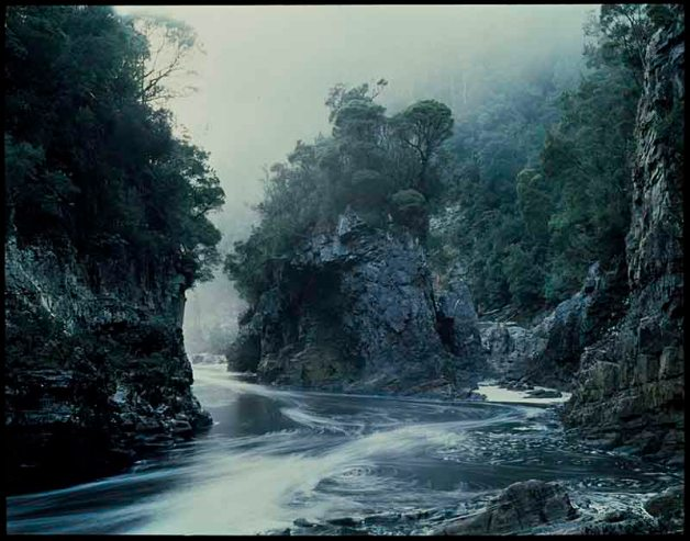 Morning Mist, Rock Island Bend, Franklin River 1979 Courtesy of National Library of Australia and Estate of Peter Dombrovskis