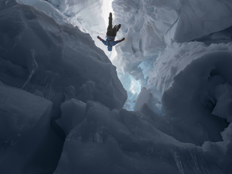 Kenzie inside a Melting Glacier, Juneau Icefield Research Program, Alaska, 2016 c Lucas Foglia courtesy of the artist